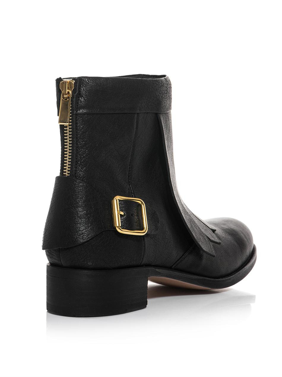 Rupert sanderson Vrony Leather Ankle Boots in Black | Lyst