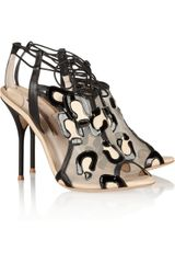 Sophia Webster Blake Patent Leather and Mesh Sandals - Lyst