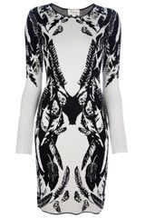 Temperley London Feather Motif Dress - Lyst
