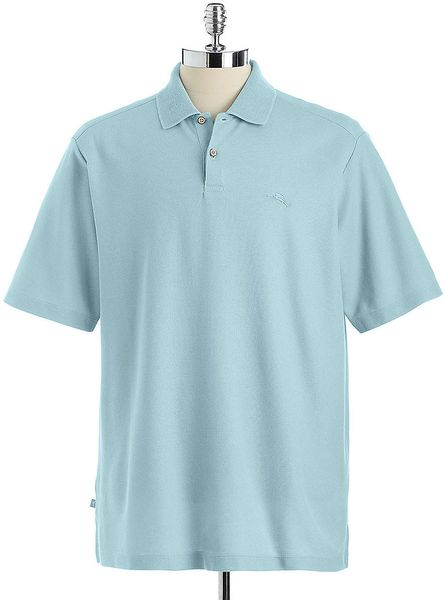 Tommy bahama marlin rossi polo shirt in blue for men lyst for Tommy bahama polo shirts on sale