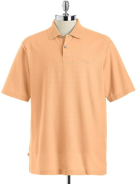 Tommy bahama marlin rossi polo shirt in orange for men lyst for Tommy bahama polo shirts on sale