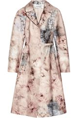 Valentino Printed Cotton And Silkblend Coat - Lyst