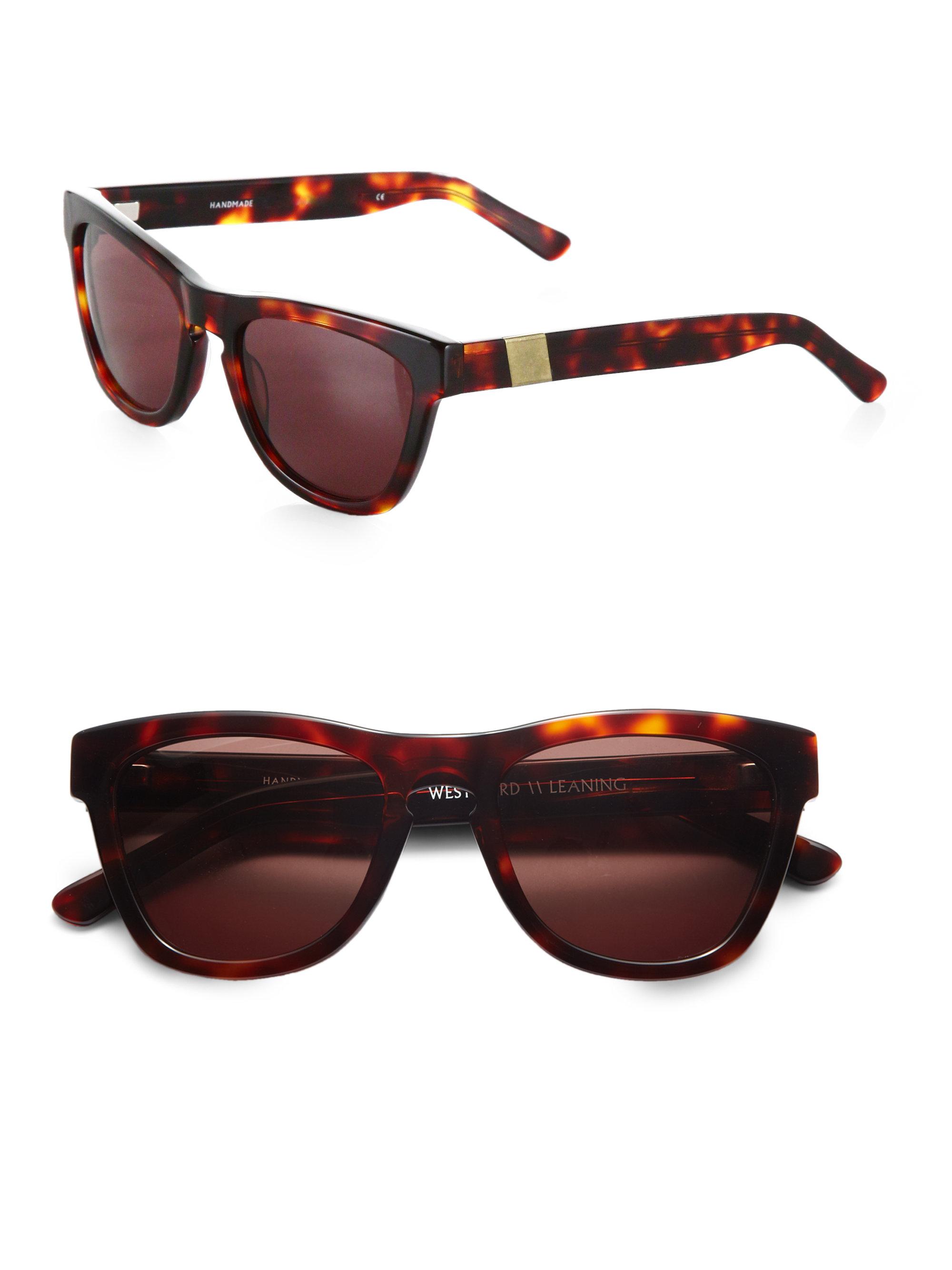 25301eb18fb Lyst - Westward Leaning Louisiana Purchase Acetate Square Sunglasses