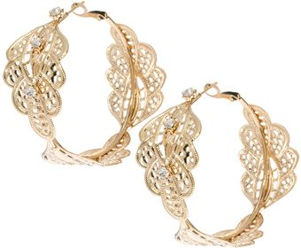 ASOS Collection Limited Edition Paisley Filigree Hoop Earring - Lyst