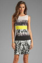 BCBGMAXAZRIA Print Combo Tank Dress in Black - Lyst