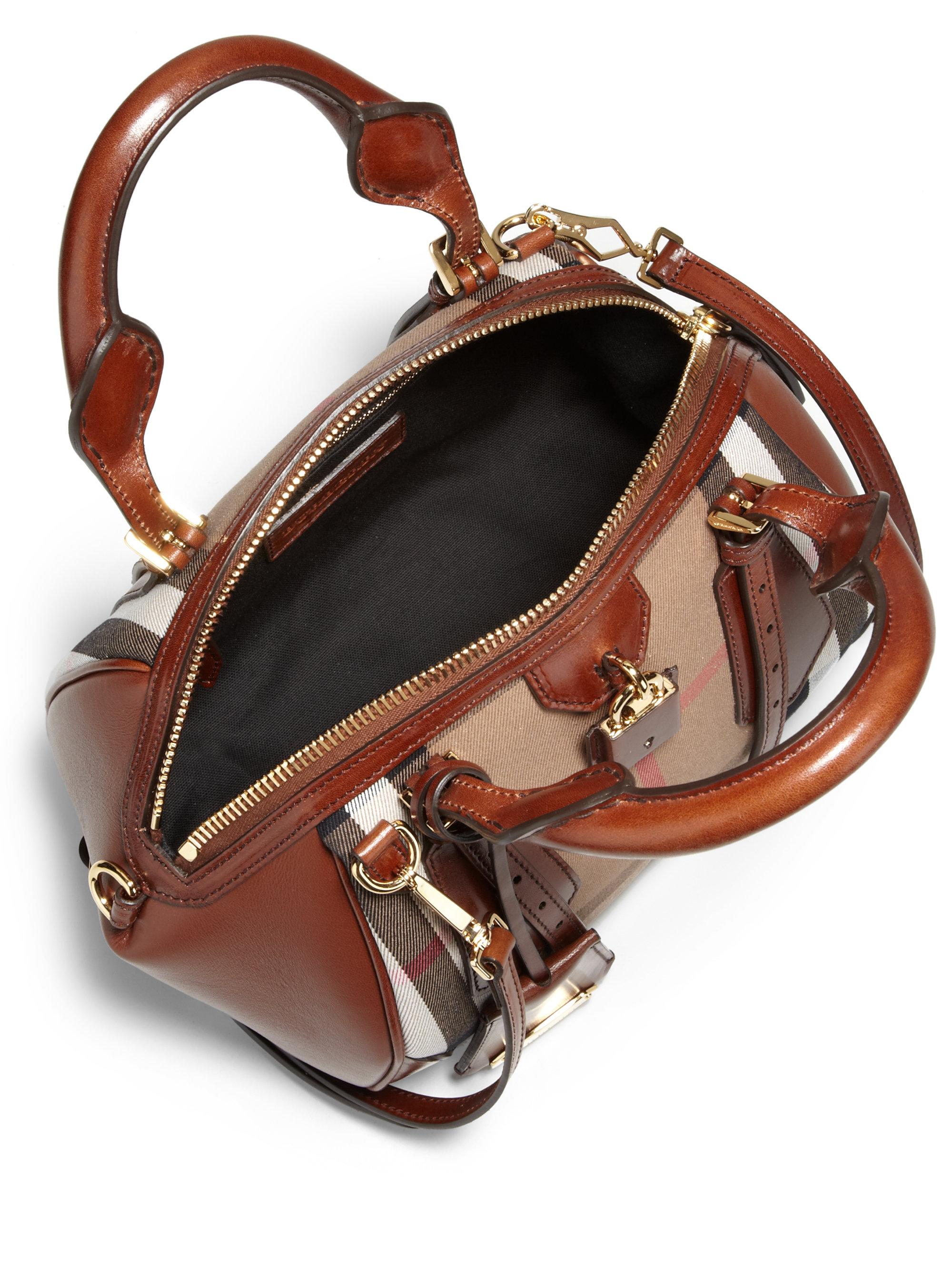 5e763ff5ac9f Lyst - Burberry Blaze Satchel Handbag in Brown