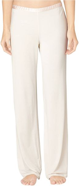 Calvin Klein Essentials Satin Trim Long Pajama Pants - Lyst