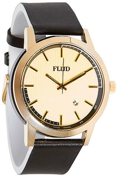 flud watches the onyx in white for gold lyst