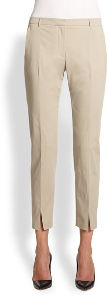 La Via 18 Twill Ankle Pants - Lyst