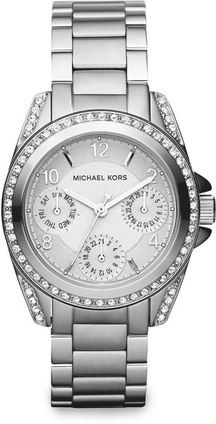 Michael Kors Stone Stainless Steel Multifunction Watch - Lyst