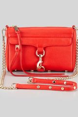 Rebecca Minkoff Mini Mac Clutch Bag Fire Engine - Lyst