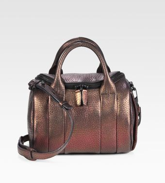 Alexander Wang Rockie Pebble Metallic Leather Satchel - Lyst