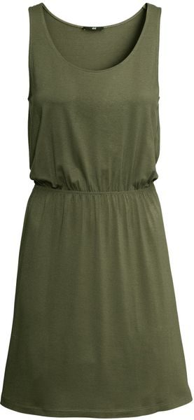 H&M Sleeveless Jersey Dress - Lyst