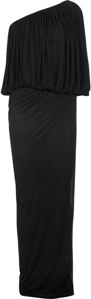 Rick Owens Oneshouldered Draped Jersey Dress - Lyst