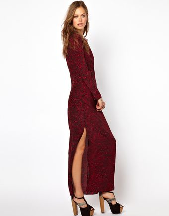 Winter Kate Printed Silk Maxi Dress - Lyst