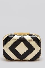Badgley Mischka Clutch Alba Diamond Metallic - Lyst