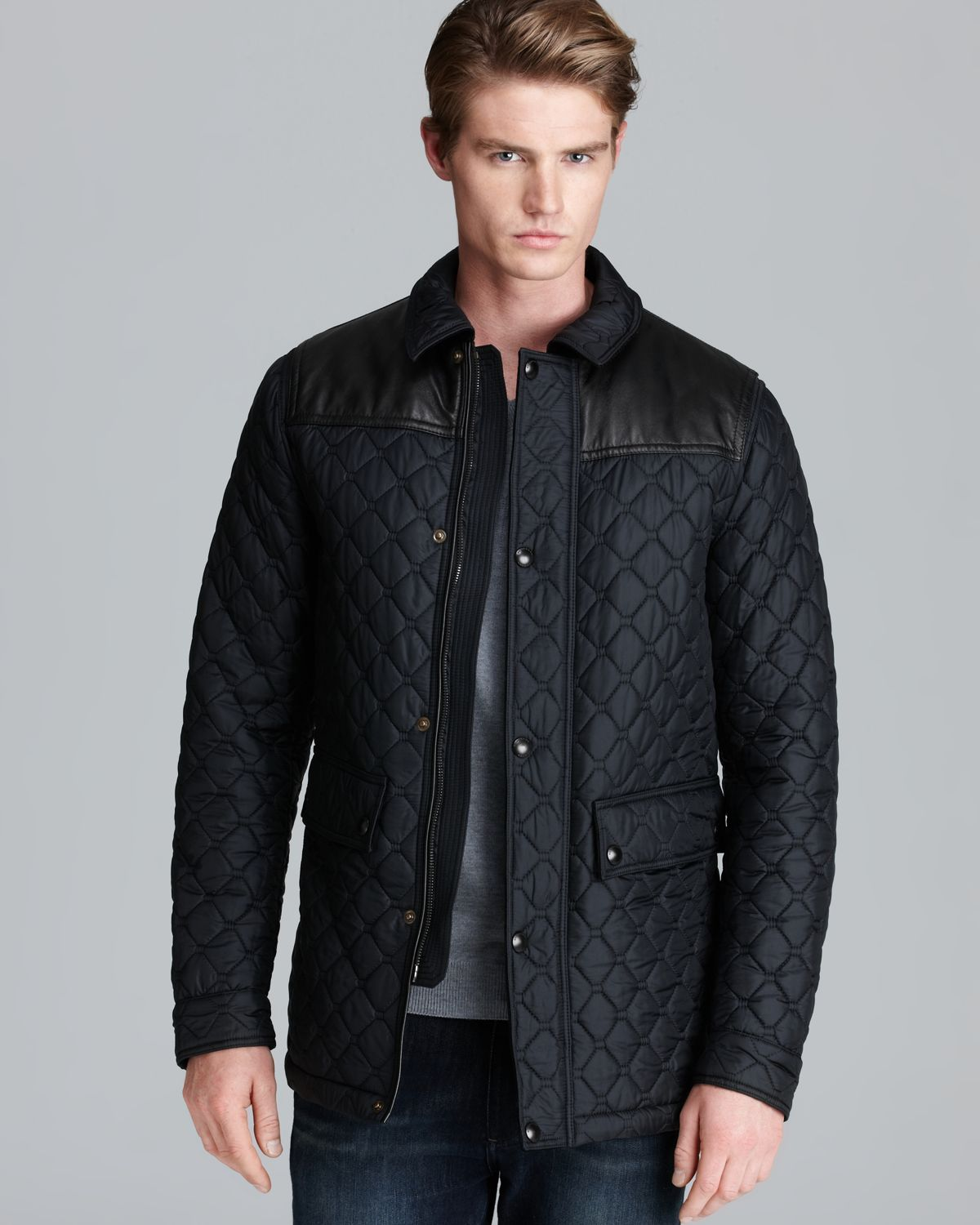Lyst Burberry London Highgrove Quilted Jacket In Black For Men