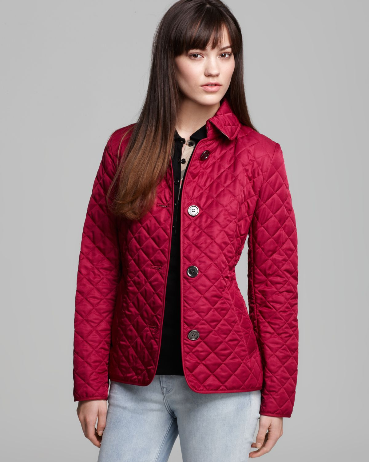 Lyst - Burberry Brit Copford Quilted Jacket in Red : red burberry quilted jacket - Adamdwight.com