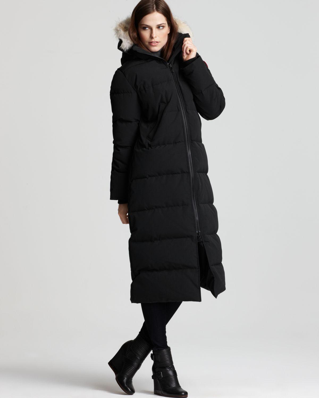 Canada goose Maxi Coat - Mystique in Black | Lyst