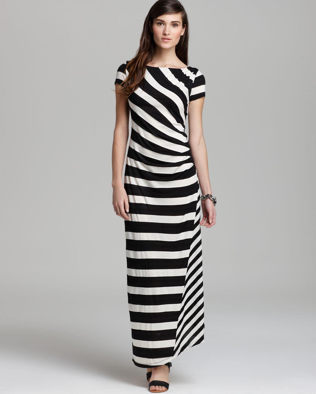 Dkny Short Sleeve Maxi Dress In Natural Lyst
