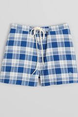 Gant Rugger Check Swim Trunks - Lyst