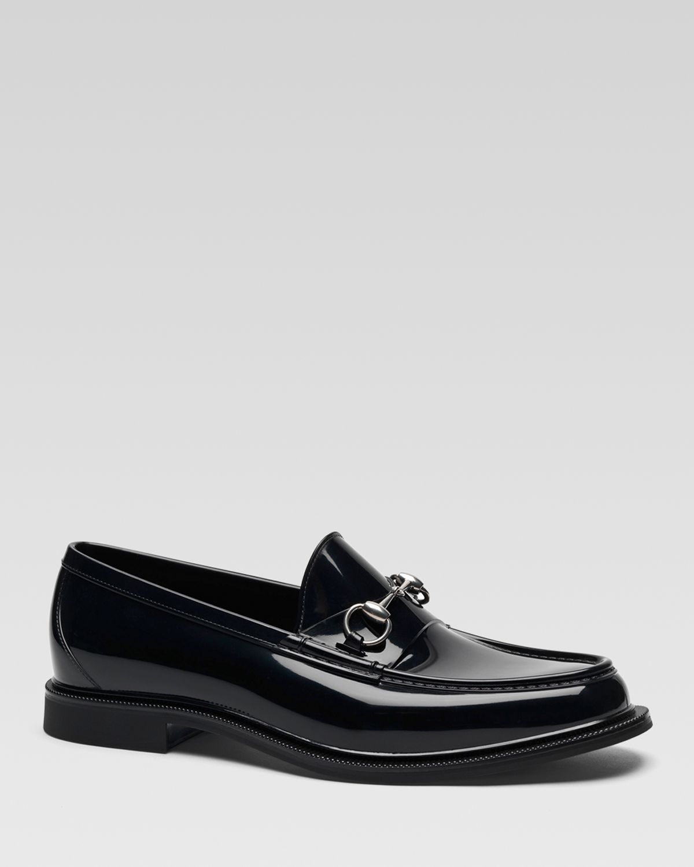 87a46d3abe5 Lyst - Gucci Rubber Horsebit Rain Loafer in Black for Men