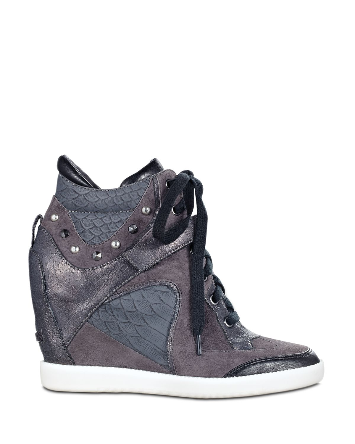 lyst guess wedge sneakers huxley in gray