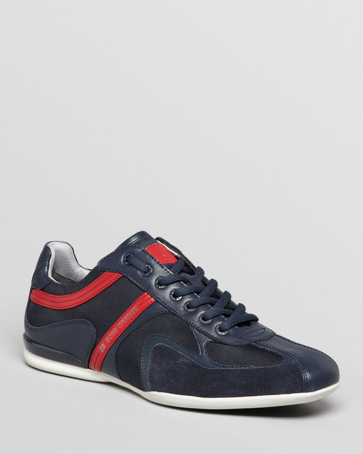 hugo boss boss orange seamon sneakers in blue for men navy lyst. Black Bedroom Furniture Sets. Home Design Ideas
