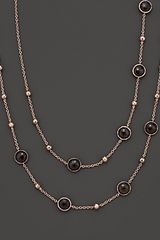 Ippolita Ippolita Rosé Mini Lollipop and Ball Necklace in Smoky Quartz - Lyst