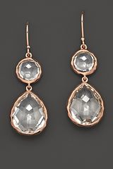 Ippolita Ippolita Rosé Snowman Earrings in Clear Quartz - Lyst