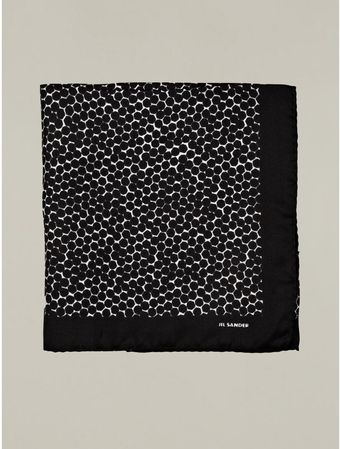Jil Sander Hexagon Print Silk Pocket Square - Lyst
