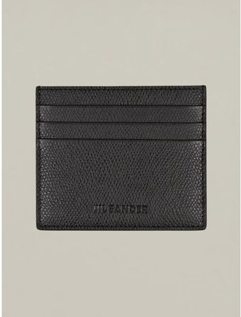 Jil Sander Mens Black Grained Leather Card Holder - Lyst