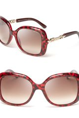 Jimmy Choo Oversized Link Temple Sunglasses - Lyst