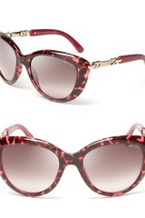 Jimmy Choo Link Temple Cateye Sunglasses - Lyst