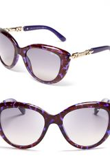 Jimmy Choo Link Temple Cat-eye Sunglasses - Lyst
