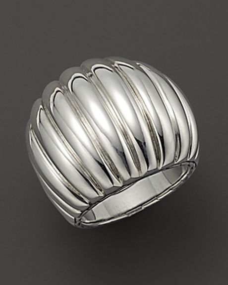 hardy bedeg sterling silver dome ring in silver no