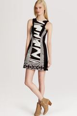 Karen Millen Color Block Dress Print - Lyst