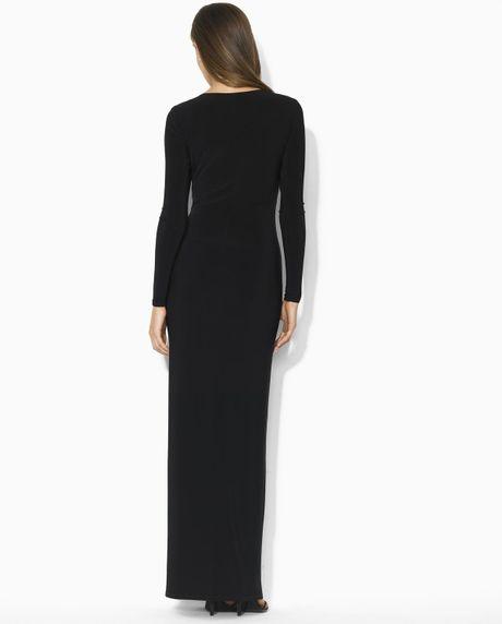 Lauren By Ralph Lauren Dress Long Evening Dress In Black