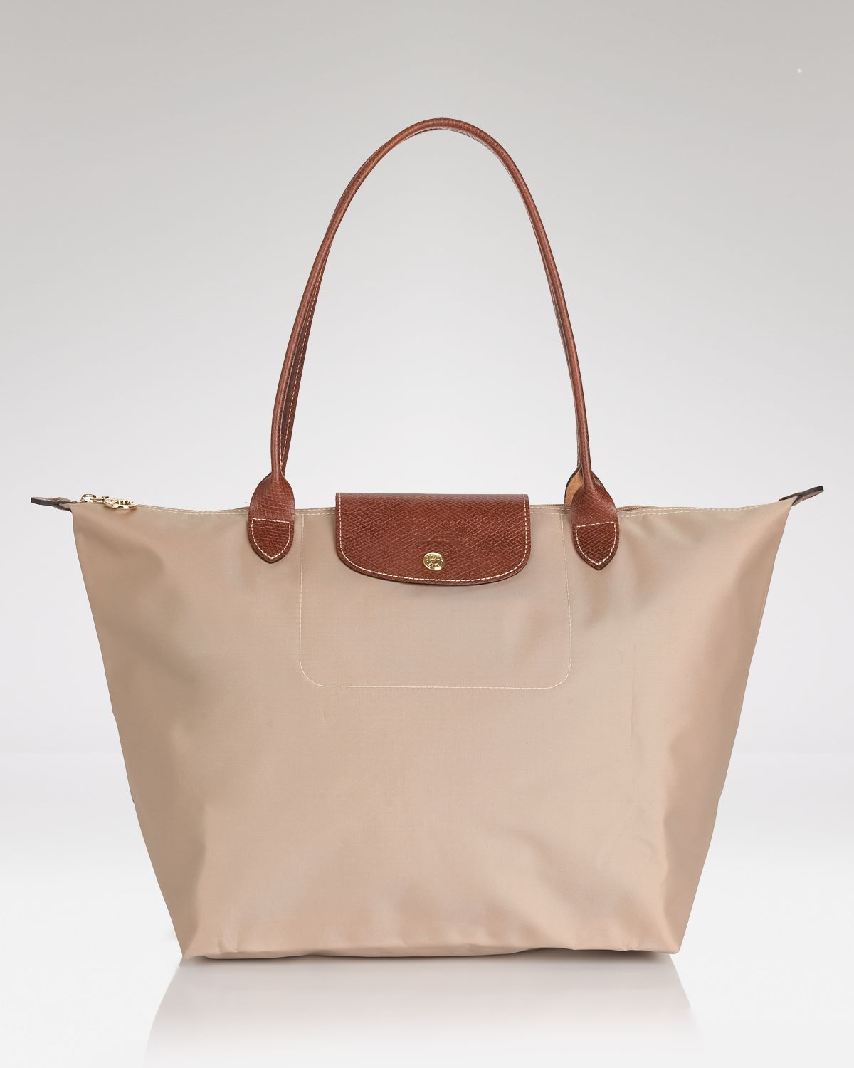 Longchamp Bag Le Pliage Colours : Longchamp le pliage large shoulder tote in natural lyst