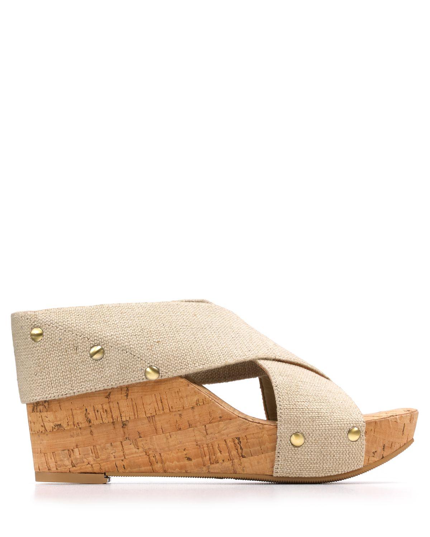Lucky Brand Miller2 Platform Wedge Sandals In Natural Lyst