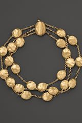 Marco Bicego Siviglia Collection Triple Strand Gold Bracelet - Lyst