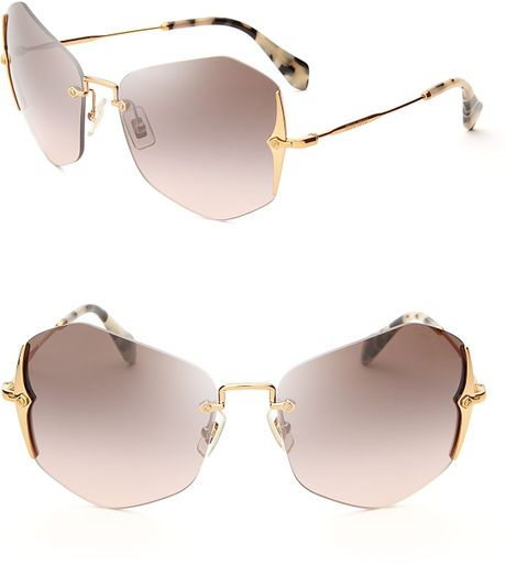 357f1986a9 Miu Miu Rose Gold Mirror Sunglasses