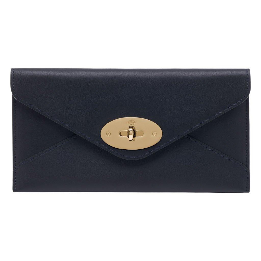 da002feffe ... closeout mulberry envelope wallet in blue lyst eed66 86ef6 best mulberry  clutch ...