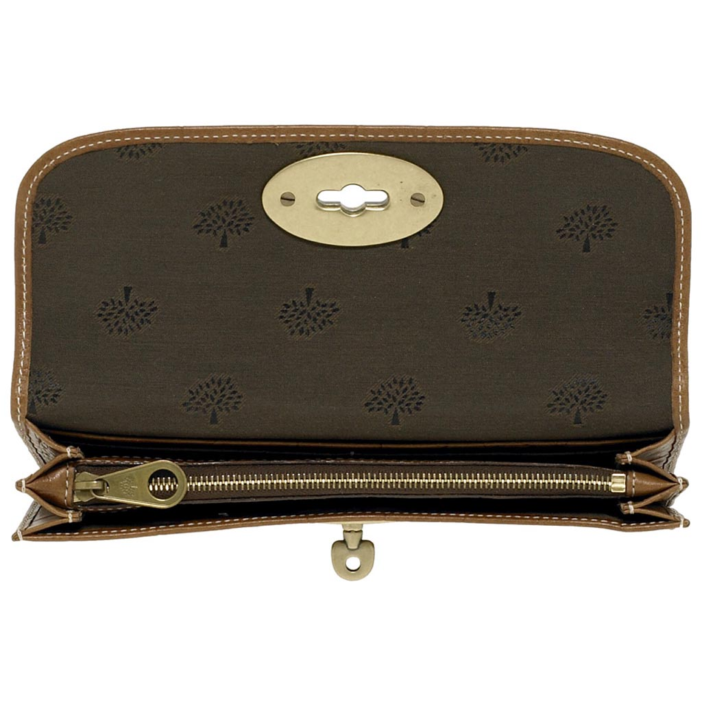 cce7dccef2ee ... real mulberry long locked purse in brown lyst f5cd5 7ff21