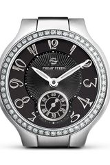 Philip Stein Small Round Stainless Steel Diamond Watch Head 35mm - Lyst