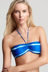 Ralph Lauren Blue Label Colorfield Stripe Bandeau Bikini Top - Lyst