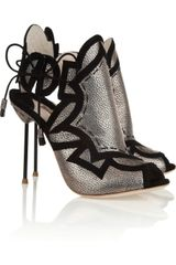 Sophia Webster Cutout Metallic Leather Sandals - Lyst