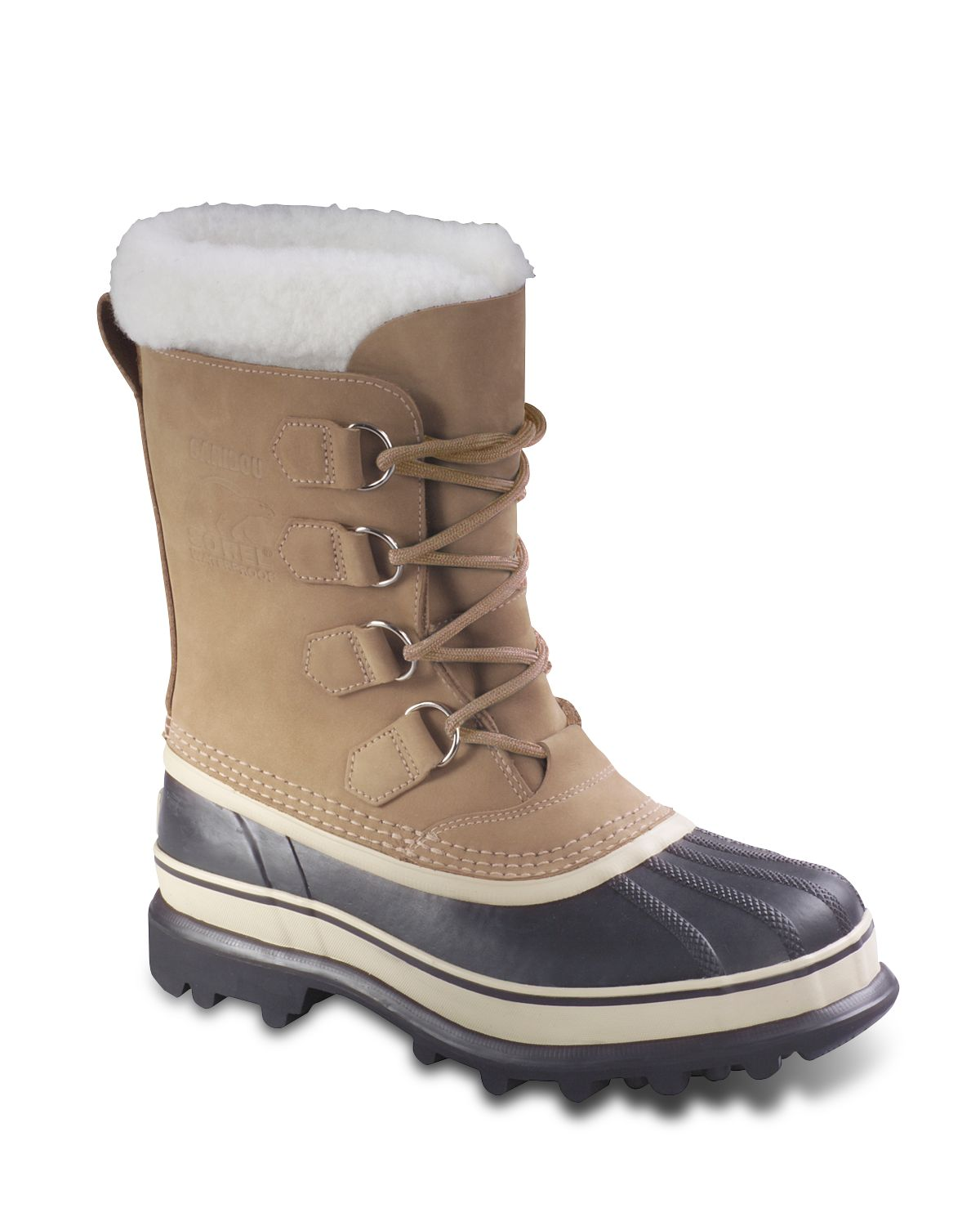Lyst Sorel Womens Caribou Snow Boots In Natural