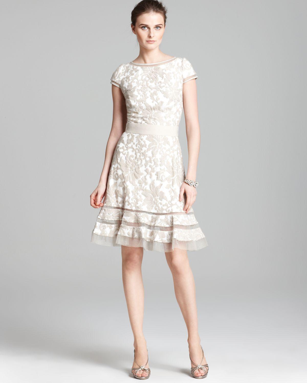 7940031dd76 Tadashi Shoji Dress - Cap Sleeve Lace Horsewire in Black - Lyst