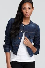 Textile Elizabeth And James Textile Elizabeth James Jacket Collarless Sid Denim - Lyst